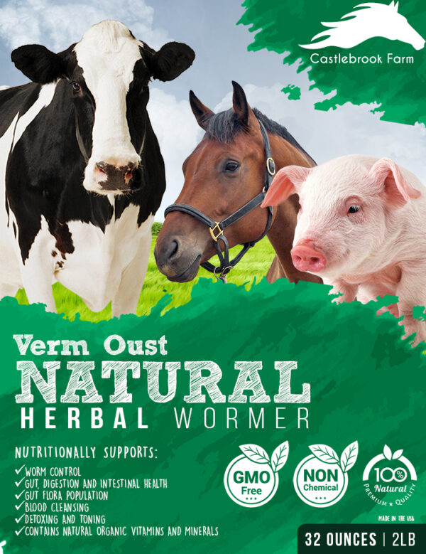 Natural Herbal Dewormer for Cattle, Equine, Goats, Sheep, pigs